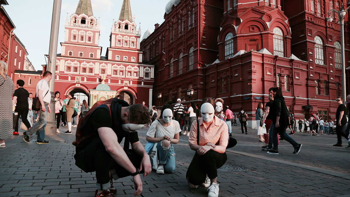 Steiger Team proclaiming the Gospel in Moscow